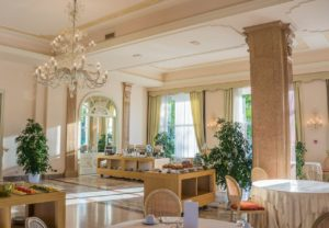 villa cortine palace, breakfast room, restaurant