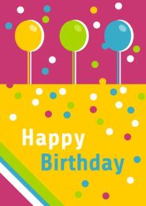 happy birthday, birthday, greeting card